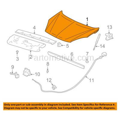 Aftermarket Replacement - HDD-1252 2002-2007 Buick Rendezvous (CX, CX Plus, CXL, CXL Plus, Ultra) (Sport Utility 4-Door) Front Hood Panel Assembly Primed Steel - Image 3