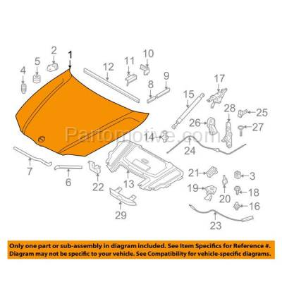 Aftermarket Replacement - HDD-1051 2006-2008 BMW 3-Series 323i/325i/325xi/328i/328xi/330i/330xi/335i/335xi (Sedan & Wagon) Front Hood Panel Assembly Primed Steel - Image 3