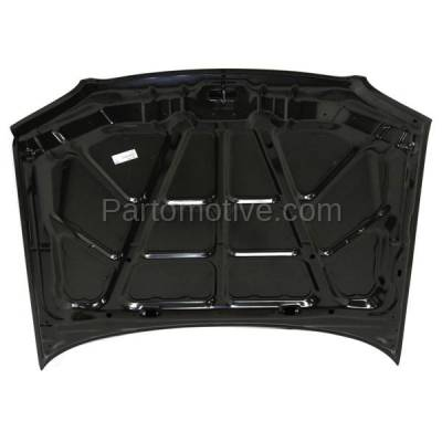 Aftermarket Replacement - HDD-1387 1998-1999 Hyundai Accent GL (Sedan 4-Door) 1.5L Front Hood Panel Assembly Primed Steel - Image 3