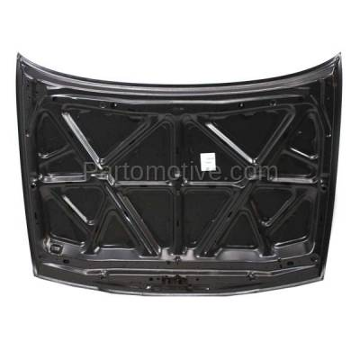 Aftermarket Replacement - HDD-1557 1995-1999 Nissan Sentra & 1995-1998 200SX (Base, GLE, GXE, SE, SE-R, XE) 1.6L/2.0L (Coupe & Sedan) Front Hood Panel Assembly Primed Steel - Image 3