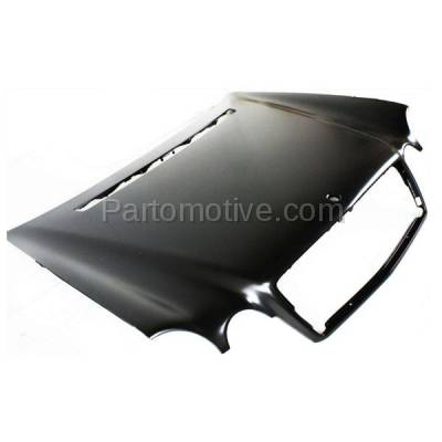 Aftermarket Replacement - HDD-1502 1996-1999 Mercedes-Benz E-Class E300/E320/E430/E55 AMG (Sedan & Wagon) (210 Chassis) Front Hood Panel Assembly Primed Steel - Image 2