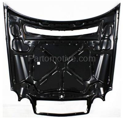 Aftermarket Replacement - HDD-1502 1996-1999 Mercedes-Benz E-Class E300/E320/E430/E55 AMG (Sedan & Wagon) (210 Chassis) Front Hood Panel Assembly Primed Steel - Image 3