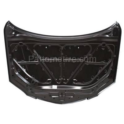 Aftermarket Replacement - HDD-1482 2004-2009 Mazda 5 (GS, GT, GX, i, S, SP23) Sedan 4-Door (2.0 & 2.3 Liter Engine) Front Hood Panel Assembly Primed Steel - Image 3