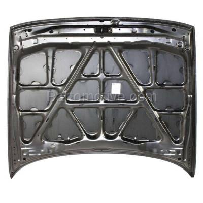 Aftermarket Replacement - HDD-1552 1991-1994 Nissan Sentra (Base, Classic, E, GXE, Limited, SE, SE-R, XE) 1.6 & 2.0 Liter (Sedan) Front Hood Panel Assembly Primed Steel - Image 3