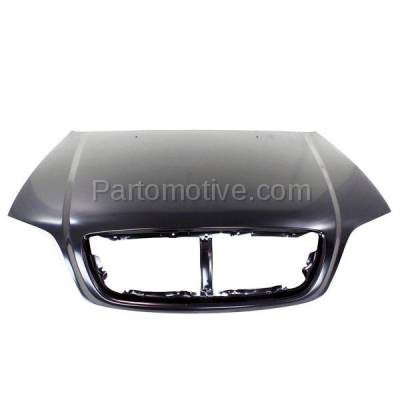 Aftermarket Replacement - HDD-1435 2003-2005 Kia Sedona (EX, LX) Mini Passenger Van 5-Door (3.5 Liter V6 Engine) Front Hood Panel Assembly Primed Steel - Image 1