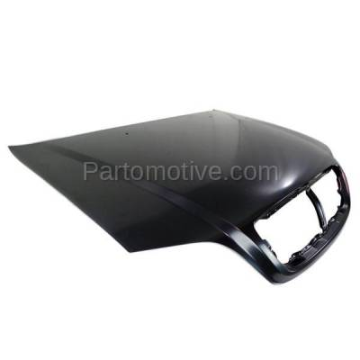 Aftermarket Replacement - HDD-1435 2003-2005 Kia Sedona (EX, LX) Mini Passenger Van 5-Door (3.5 Liter V6 Engine) Front Hood Panel Assembly Primed Steel - Image 2