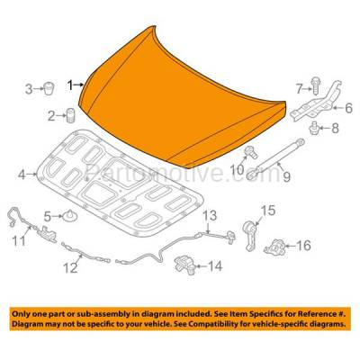 Aftermarket Replacement - HDD-1415 2015-2017 Hyundai Sonata (Eco, GL, GLS, Limited, SE, Sport, Sport Tech, Ultimate) Sedan 4-Door Front Hood Panel Assembly Primed Steel - Image 3