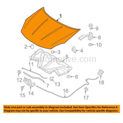 Aftermarket Replacement - HDD-1582 2008-2013 Nissan Rogue & 2014-2015 Rogue Select (Advance, Exclusive, Krom, S, S Krom, Sense, SL, SV) 2.5L Front Hood Panel Assembly Primed Steel - Image 3
