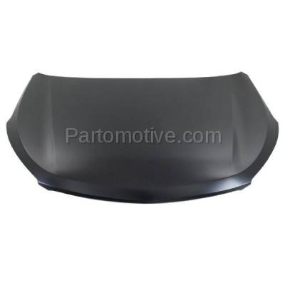 Aftermarket Replacement - HDD-1414 2013 Hyundai Santa Fe & Santa Fe XL (GLS, Limited) 2.0L & 3.3L (with Production Date Up To 7/01/13) Front Hood Panel Assembly Primed Steel - Image 1