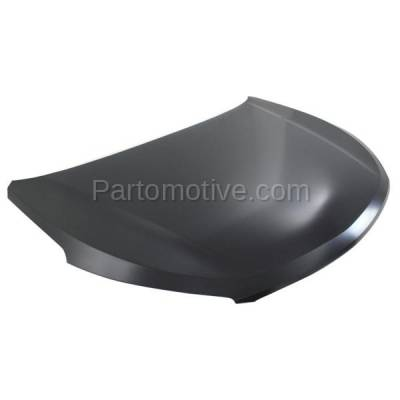 Aftermarket Replacement - HDD-1414 2013 Hyundai Santa Fe & Santa Fe XL (GLS, Limited) 2.0L & 3.3L (with Production Date Up To 7/01/13) Front Hood Panel Assembly Primed Steel - Image 2