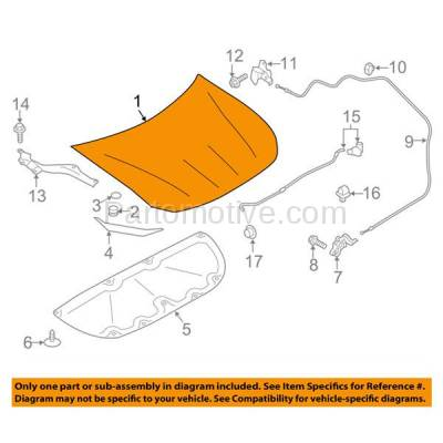 Aftermarket Replacement - HDD-1617 2013-2016 Scion FR-S & 2017 Toyota 86 (Coupe 2-Door) (2.4 Liter H4 Engine) Front Hood Panel Assembly Primed Steel - Image 3