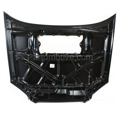 Aftermarket Replacement - HDD-1627 2004-2005 Subaru Impreza (WRX & WRX STI) Sedan & Wagon (2.0 & 2.5 Liter H4 Turbocharged Engine) Front Hood Panel Assembly Primed Steel - Image 3