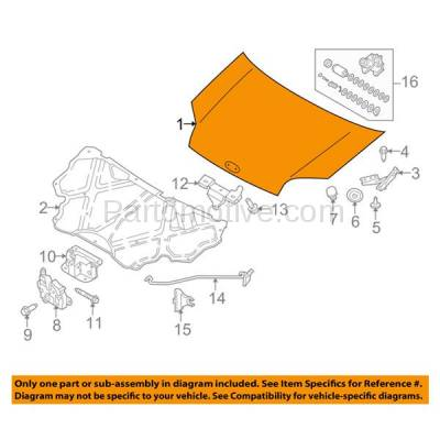 Aftermarket Replacement - HDD-1201 2010-2013 Ford Transit Connect (XL, XLT) Mini Cargo & Passenger Van 4-Door 2.0L (USA Built Models) Front Hood Panel Assembly Primed Steel - Image 3