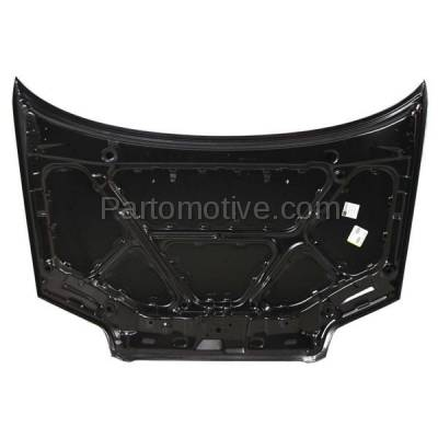 Aftermarket Replacement - HDD-1275 2004-2007 Chevy Aveo (LS, LT, Special Value) 1.6L Hatchback & Sedan 4-Door Front Hood Panel Assembly Primed Steel - Image 2