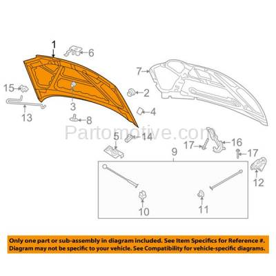 Aftermarket Replacement - HDD-1275 2004-2007 Chevy Aveo (LS, LT, Special Value) 1.6L Hatchback & Sedan 4-Door Front Hood Panel Assembly Primed Steel - Image 3