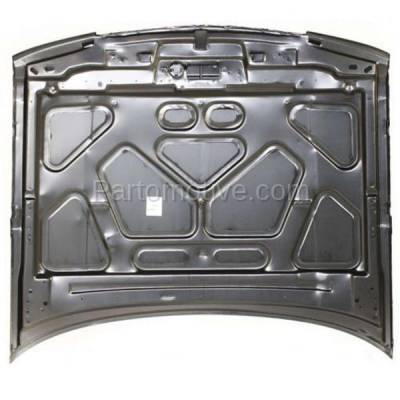 Aftermarket Replacement - HDD-1221 1994-1996 Chevy Caprice (Classic & Classic LS) 4.3L/5.7L V8 (Sedan & Wagon) Front Hood Panel Assembly Primed Steel without Ornament Hole - Image 3