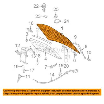 Aftermarket Replacement - HDD-1251 2000-2005 Cadillac DeVille (Base, DHS, DTS) Limousine & Sedan (FWD, 4.6L) Front Hood Panel Assembly Primed Aluminumwith RPO TL4 without Hood Ornament - Image 3