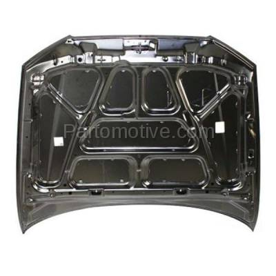 Aftermarket Replacement - HDD-1390 2000-2002 Hyundai Accent (GL, GS, L) Hatchback & Sedan (1.5 & 1.6 Liter Engine) Front Hood Panel Assembly Primed Steel - Image 3