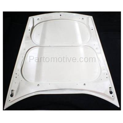 Aftermarket Replacement - HDD-1281 2005-2013 Chevy Corvette (Base, Grand Sport, Z06) V8 (Coupe & Convertible 2-Door) Front Hood Panel Assembly Primed Fiberglass - Image 2