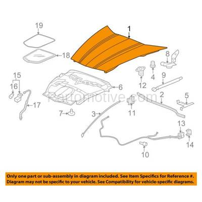 Aftermarket Replacement - HDD-1281 2005-2013 Chevy Corvette (Base, Grand Sport, Z06) V8 (Coupe & Convertible 2-Door) Front Hood Panel Assembly Primed Fiberglass - Image 3