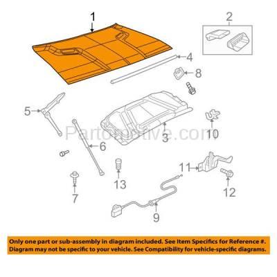 Aftermarket Replacement - HDD-1113 2008-2014 Dodge Challenger (R/T, Rallye Redline, SE, SRT8, SXT, SXT Plus) Coupe 2-Door (without Hood Scoop) Front Hood Panel Assembly Primed Aluminum - Image 3