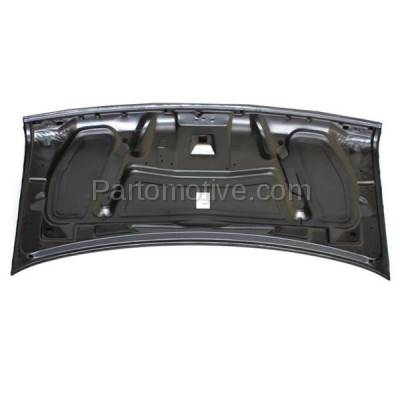 Aftermarket Replacement - HDD-1171 1997-2002 Ford E-Series Econoline Cargo/Passenger Van (E150/E250/E350/E550/E Super Duty & Club Wagon) Front Hood Panel Assembly Primed Plastic - Image 3