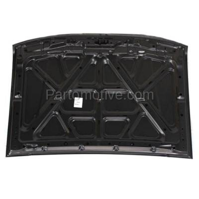 Aftermarket Replacement - HDD-1559 1998-2000 Nissan Frontier Pickup Truck & 2000-2001 Xterra (Base, SE, XE) (2.4L & 3.3L) Front Hood Panel Assembly Primed Steel - Image 3