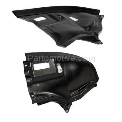 Aftermarket Replacement - ESS-1457L & ESS-1457R 00-06 S-Class Front Engine Splash Shield Under Cover Guard Left & Right SET PAIR - Image 3