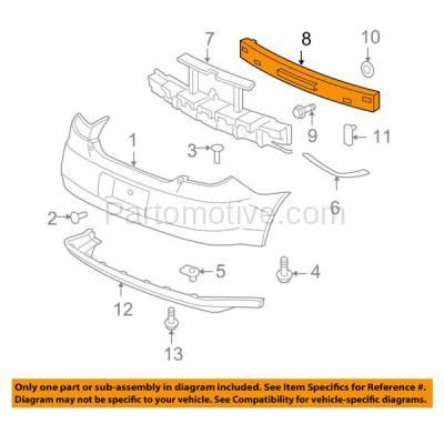 Aftermarket Replacement - BRF-1314RC 2004-2007 Chevrolet Malibu Maxx & 2005-2010 Pontiac G6 Rear Bumper Impact Face Bar Crossmember Reinforcement Primed Steel - Image 3