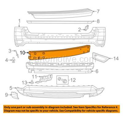 Aftermarket Replacement - BRF-1125RC 2007-2017 Jeep Compass, Patriot & 2007-2012 Dodge Caliber (Models without Tow Bracket) Rear Bumper Impact Crossmember Reinforcement Steel - Image 3