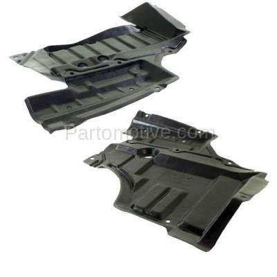 Aftermarket Replacement - ESS-1540L & ESS-1540R Front Engine Splash Shield Under Cover For 93-97 Altima Left Right Side SET PAIR - Image 2