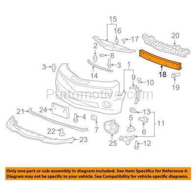 Aftermarket Replacement - BRF-1272FC 2010-2015 Chevrolet Camaro (Convertible & Coupe) Front Bumper Impact Face Bar Beam Crossmember Reinforcement Primed Steel - Image 3