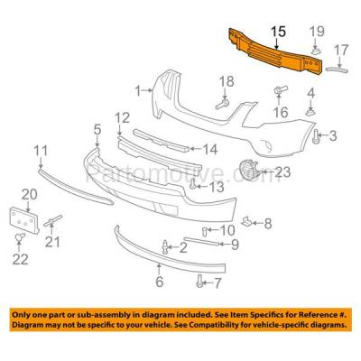 Aftermarket Replacement - BRF-1267FC 2007-2016 GMC Acadia & 2017 Acadia Limited Front Bumper Impact Face Bar Crossmember Reinforcement Primed Made of Steel - Image 3