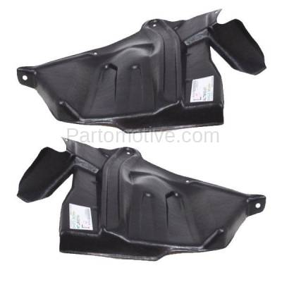 Aftermarket Replacement - ESS-1545L & ESS-1545R Front Engine Splash Shield Under Cover For 93-01 Altima Left Right Side SET PAIR - Image 1