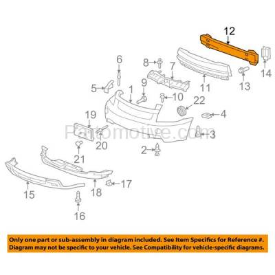 Aftermarket Replacement - BRF-1250FC 2005-2009 Chevrolet Equinox & Pontiac Torrent Front Bumper Impact Face Bar Crossmember Reinforcement Beam Primed Made of Steel - Image 3