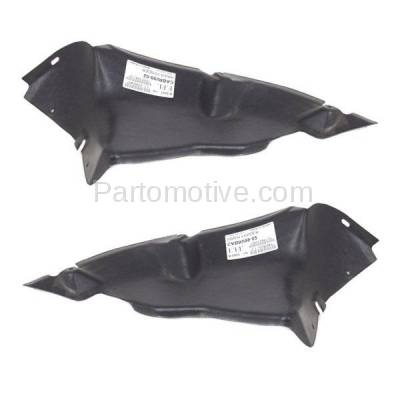 Aftermarket Replacement - ESS-1669L & ESS-1669R 99-02 Cabrio Front Engine Splash Shield Under Cover Air Duct Left Right SET PAIR - Image 2