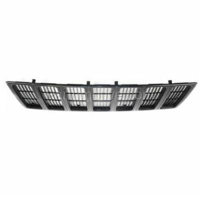Aftermarket Replacement - GRL-1255C CAPA NEW 97-01 Cherokee Black Front Face Bar Grill Grille CH1200208 55055150 - Image 3