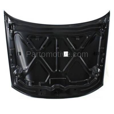 Aftermarket Replacement - HDD-1225 1997-2003 Pontiac Grand Prix (GT, GTP, SE) 3.1 & 3.8 Liter V6 (Coupe & Sedan) Front Hood Panel Assembly Primed Steelwithout Vent - Image 3