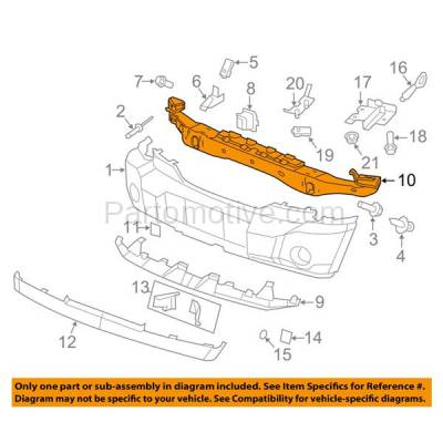 Aftermarket Replacement - BRF-1096FC 2007-2011 Dodge Nitro & 2002-2012 Jeep Liberty Front Bumper Impact Bar Cross Member Crossmember Reinforcement Primed Steel - Image 3