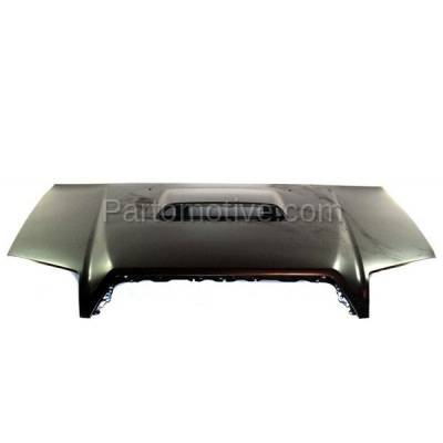 Aftermarket Replacement - HDD-1685 2003-2009 Toyota 4Runner Sport (4.0 & 4.7 V6/V8 Engine) Sport Utility 4-Door (with Scoop Provision) Front Hood Panel Assembly Primed Steel - Image 1