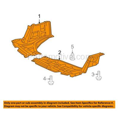 Aftermarket Replacement - ESS-1633L & ESS-1633R 07-12 Yaris & xD Front Engine Splash Shield Under Cover Left Right Side SET PAIR - Image 3