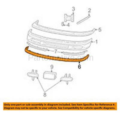 Aftermarket Replacement - VLC-1099F 97-98 Expedition & F-Series F150/F250 Pickup Truck Front Bumper Lower Spoiler Valance Air Dam Deflector Apron Garnish Panel - Image 3