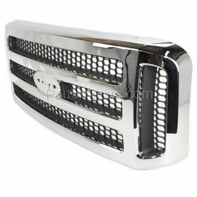 Aftermarket Replacement - GRL-1490C CAPA 05-07 F-Series SuperDuty Truck Front Grill Grille FO1200456 5C3Z8200BAA - Image 2