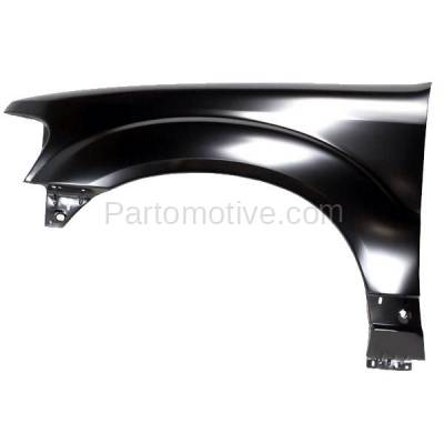 Aftermarket Replacement - FDR-1274L 2001-2003 Ford Explorer & 2001-2005 Explorer Sport Trac Front Fender Quarter Panel without Molding Holes Left Driver Side - Image 1