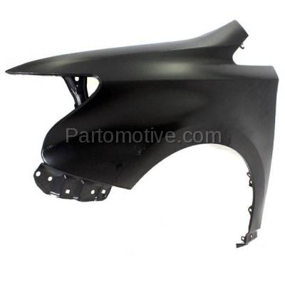 Aftermarket Replacement - FDR-1385L 2010-2012 Lexus HS250h (Sedan 4-Door) (2.4 Liter Engine) Front Fender Quarter Panel Primed Steel Left Driver Side - Image 2