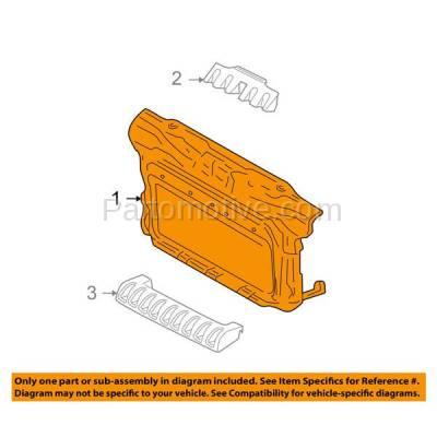 Aftermarket Replacement - RSP-1836 1998-2010 Volkswagen Beetle (Hatchback 2-Door) (Except Turbo S Model) Front Center Radiator Support Core Assembly Primed Plastic - Image 3