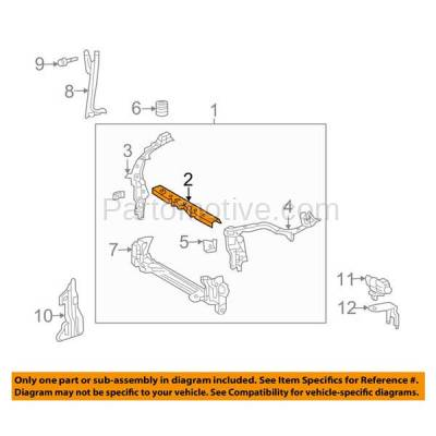 Aftermarket Replacement - RSP-1769 2011-2013 Toyota Corolla & 2011-2014 Matrix (1.8 & 2.4 Liter) Front Radiator Support Upper Crossmember Tie Bar Panel Primed Made of Steel - Image 3