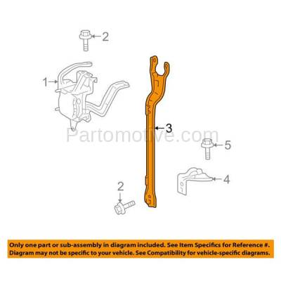 Aftermarket Replacement - RSP-1772 2010-2015 Toyota Prius & 2012-2015 Prius Plug-In 1.8L Front Radiator Support Center Hood Latch Support Park/Distance Sensor Bracket - Image 3