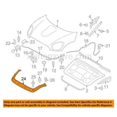 Aftermarket Replacement - RSP-1559 2011-2016 Mini Cooper Countryman & 2013-2016 Paceman (Hatchback 2/4-Door) 1.6L Radiator Support Upper Crossmember Tie Bar Steel - Image 3