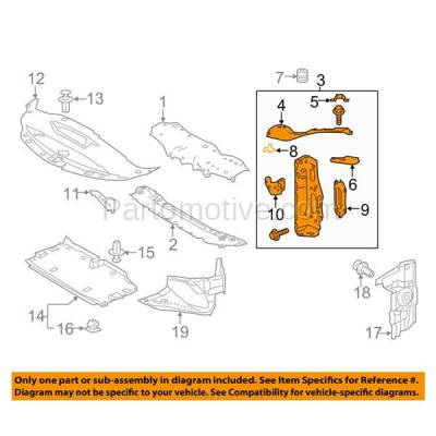 Aftermarket Replacement - RSP-1468L 2016-2017 Lexus IS200t & 2014-2018 IS250/IS350 & 2016-2018 IS300 Front Radiator Support Upper Tie Bar Bracket Panel Left Driver Side - Image 3